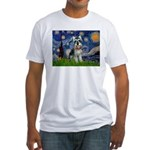 Starry Night /Schnauzer(#8) Fitted T-Shirt