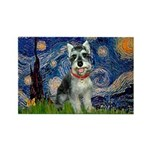 Starry Night /Schnauzer(#8) Rectangle Magnet (10 p