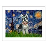 Starry Night /Schnauzer(#8) Small Poster