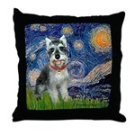 Starry Night /Schnauzer(#8) Throw Pillow