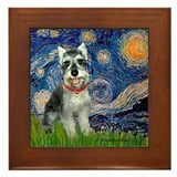 Starry Night /Schnauzer(#8) Framed Tile