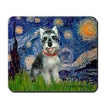 Starry Night /Schnauzer(#8) Mousepad