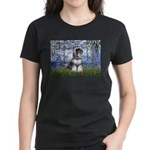 Lilies (#6) & Schnauzer #7 Women's Dark T-Shirt