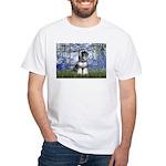 Lilies (#6) & Schnauzer #7 White T-Shirt