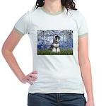 Lilies (#6) & Schnauzer #7 Jr. Ringer T-Shirt