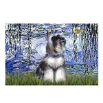 Lilies (#6) & Schnauzer #7 Postcards (Package of 8