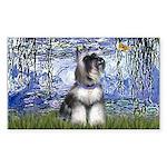Lilies (#6) & Schnauzer #7 Sticker (Rectangle 50 p