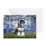Lilies (#6) & Schnauzer #7 Greeting Cards (Pk of 2