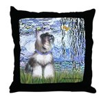 Lilies (#6) & Schnauzer #7 Throw Pillow