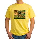 Lilies (#2)/Schnauzer Pup Yellow T-Shirt