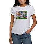 Lilies (#2)/Schnauzer Pup Women's T-Shirt