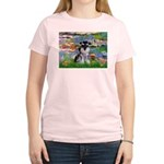 Lilies (#2)/Schnauzer Pup Women's Light T-Shirt