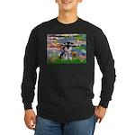 Lilies (#2)/Schnauzer Pup Long Sleeve Dark T-Shirt