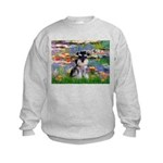 Lilies (#2)/Schnauzer Pup Kids Sweatshirt