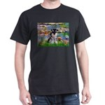 Lilies (#2)/Schnauzer Pup Dark T-Shirt