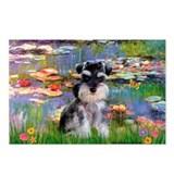 Lilies (#2)/Schnauzer Pup Postcards (Package of 8)