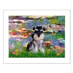 Lilies (#2)/Schnauzer Pup Small Poster