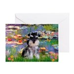 Lilies (#2)/Schnauzer Pup Greeting Card