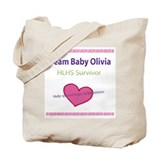 Team Baby Olivia 2 sided tote Bag