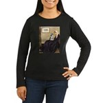 Whistler's Mother /Schnauzer Women's Long Sleeve D