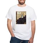 Whistler's Mother /Schnauzer White T-Shirt