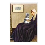 Whistler's Mother /Schnauzer Postcards (Package of