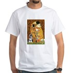 Kiss / Schnauzer (#7) White T-Shirt