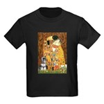Kiss / Schnauzer (#7) Kids Dark T-Shirt