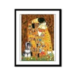 Kiss / Schnauzer (#7) Framed Panel Print