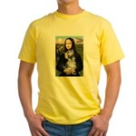 Mona Lisa's Schnauzer (#1) Yellow T-Shirt