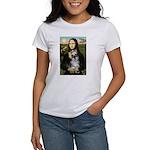 Mona Lisa's Schnauzer (#1) Women's T-Shirt