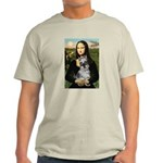 Mona Lisa's Schnauzer (#1) Light T-Shirt