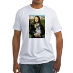 Mona Lisa's Schnauzer (#1) Fitted T-Shirt