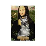 Mona Lisa's Schnauzer (#1) Rectangle Magnet (100 p