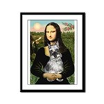 Mona Lisa's Schnauzer (#1) Framed Panel Print