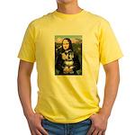 Mona Lisa's Schnauzer (#6) Yellow T-Shirt