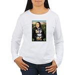 Mona Lisa's Schnauzer (#6) Women's Long Sleeve T-S