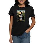 Mona Lisa's Schnauzer (#6) Women's Dark T-Shirt