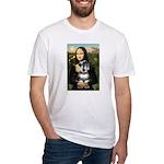 Mona Lisa's Schnauzer (#6) Fitted T-Shirt