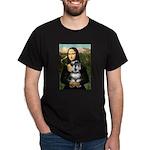 Mona Lisa's Schnauzer (#6) Dark T-Shirt