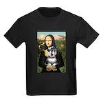 Mona Lisa's Schnauzer (#6) Kids Dark T-Shirt