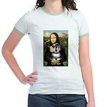 Mona Lisa's Schnauzer (#6) Jr. Ringer T-Shirt