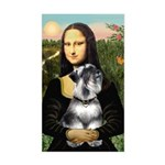 Mona Lisa's Schnauzer (#6) Sticker (Rectangle)