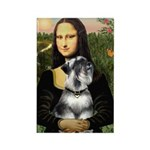 Mona Lisa's Schnauzer (#6) Rectangle Magnet (10 pa