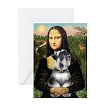 Mona Lisa's Schnauzer (#6) Greeting Card