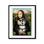 Mona Lisa's Schnauzer (#6) Framed Panel Print