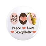 Peace Love Saxophone Sax Player 3.5