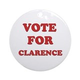 Vote for CLARENCE Ornament (Round)