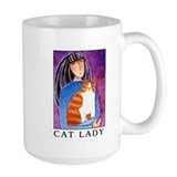 CAT LADY No. 2...Large Coffee or Cocoa Mug