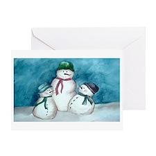 Snowmen Celebration Greeting Card